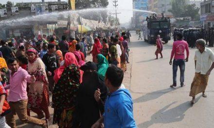 শ্রমিকদের বিক্ষোভ চলছেই : আজও আবদুল্লাহপুর-বাইপাস সড়ক অবরোধ